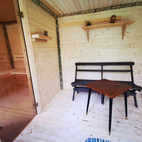 Ferienhaus Mittelschweden Troll Sauna mit BLick Entspannungsraum